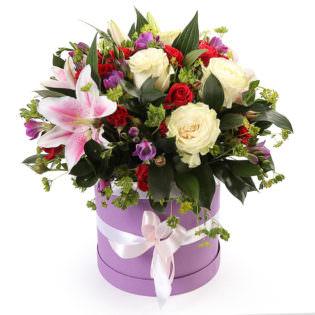 Цветы в коробке «Карамелька»