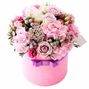 Цветы в коробке «Серенада»